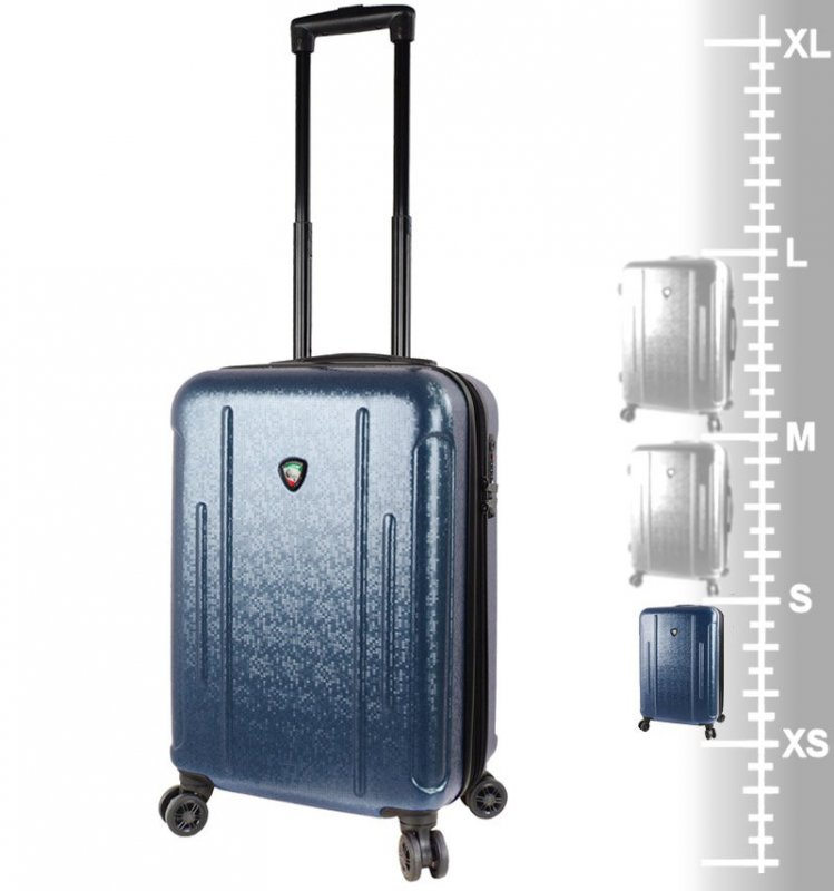 Mia Toro M1239 Manta S Navy cestovní kufr na 4 kolečkách TSA 57 cm 39-49 l