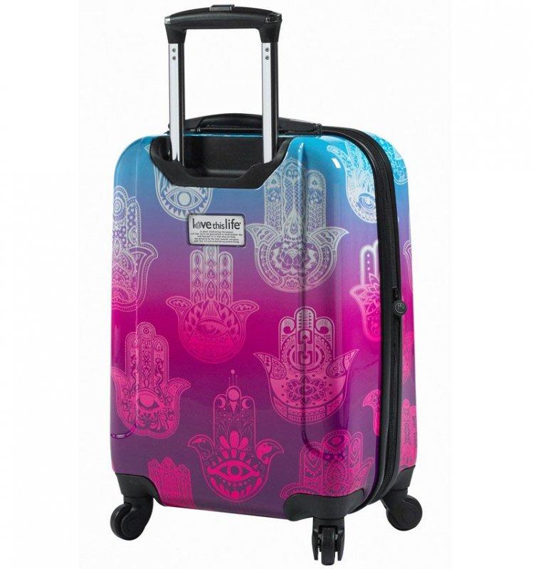 "Mia Toro M1092 Love This Life ""Hamsa"" M cestovní kufr TSA 64 cm 62-78 l"