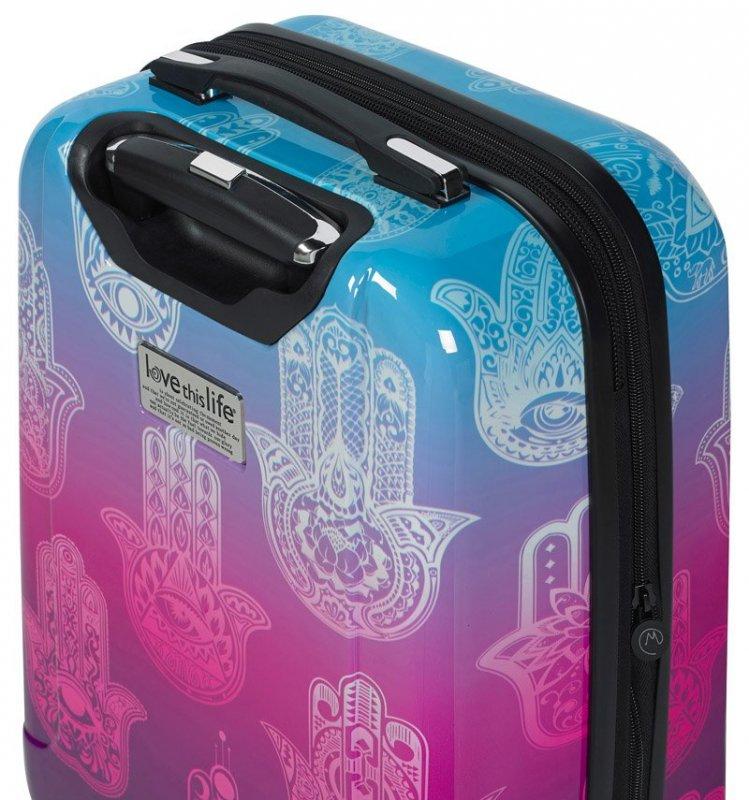 "Mia Toro M1092 Love This Life ""Hamsa"" S palubní kufr TSA 55 cm 39-49 l"
