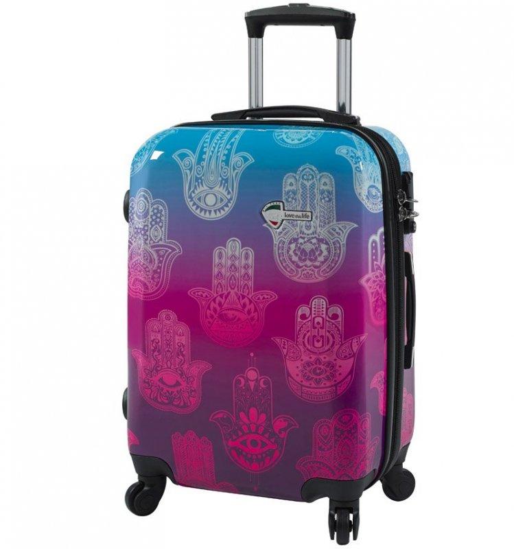 "Levně Mia Toro M1092 Love This Life ""Hamsa"" M cestovní kufr TSA 64 cm 62-78 l"