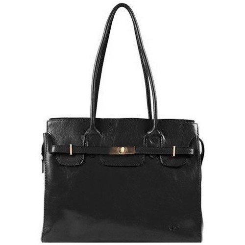 Katana 82529 Noir dámská luxusní kožená kabelka, černá