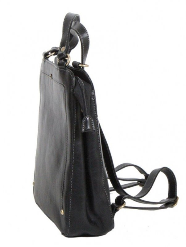 Katana 66806 Noir dámský luxusní kožený batůžek, černý