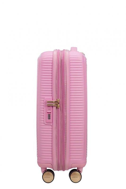 American Tourister Soundbox S Pearl Pink/Gold palubní kufr TSA 55 cm 41 l