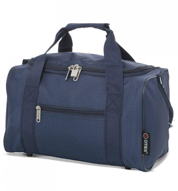 5 Cities 611 palubní cestovní taška Ryanair 40x20x25 cm modrá