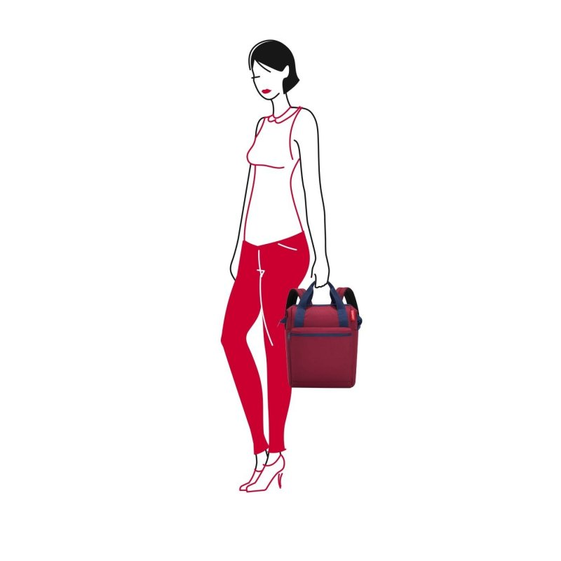 Reisenthel Allrounder R cestovní batoh/taška 12 l Dark Ruby