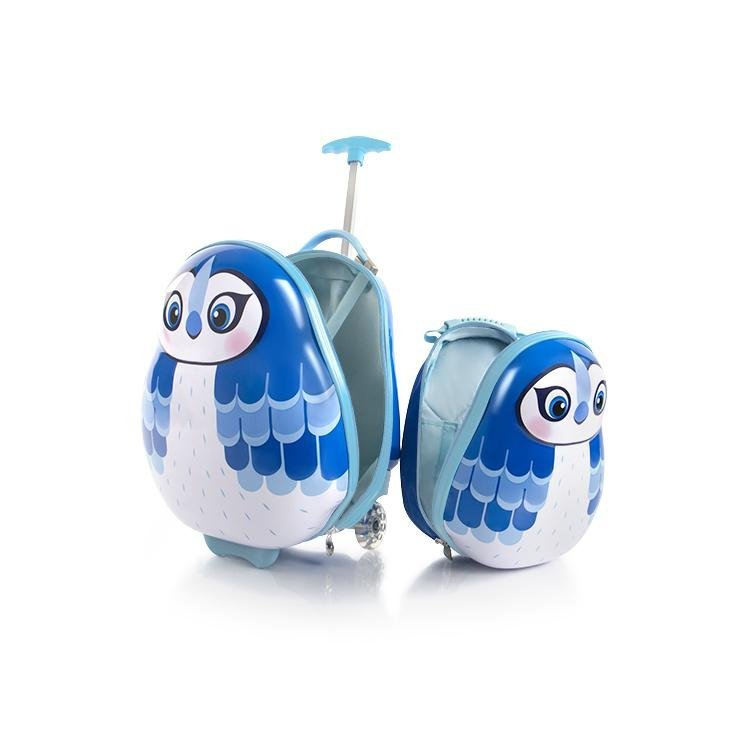 Heys Travel Tots Kids dětská sada - cestovní kufr 46 cm a batoh 33 cm Blue Jay