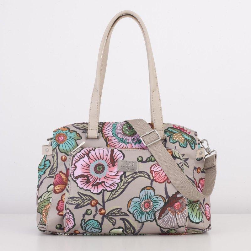 LiLiÓ Urban Peony M Carry All středně velká kabelka 36x25x14 cm Café au Lait