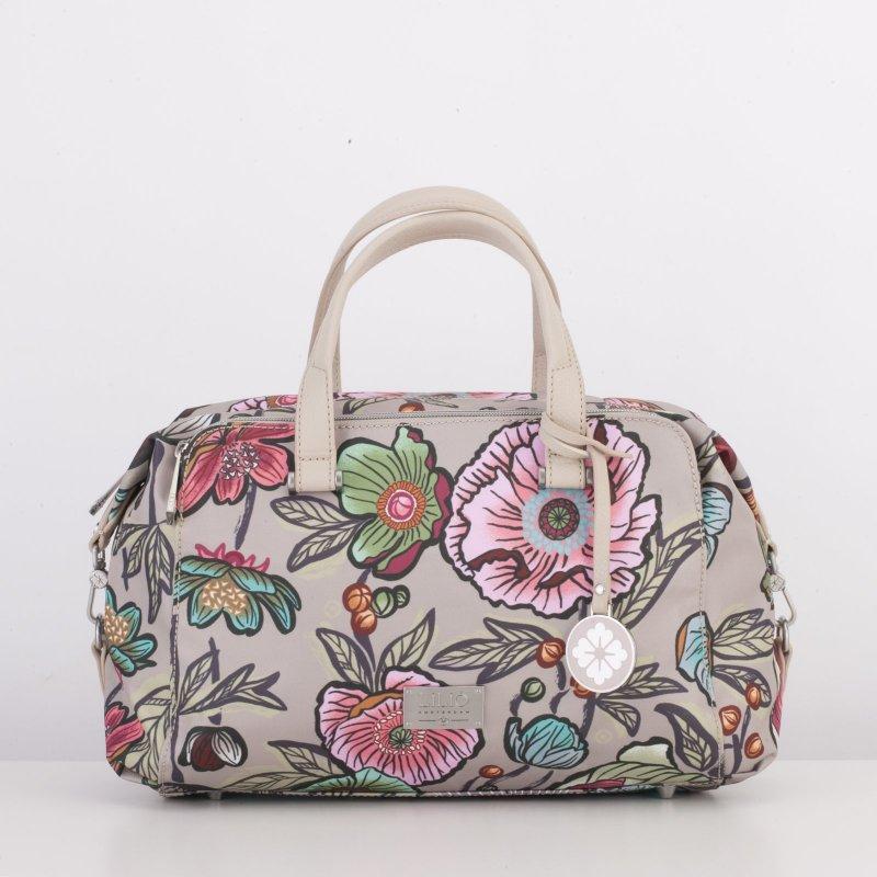 LiLiÓ Urban Peony Handbag středně velká kabelka 30x22x14 cm Café au Lait