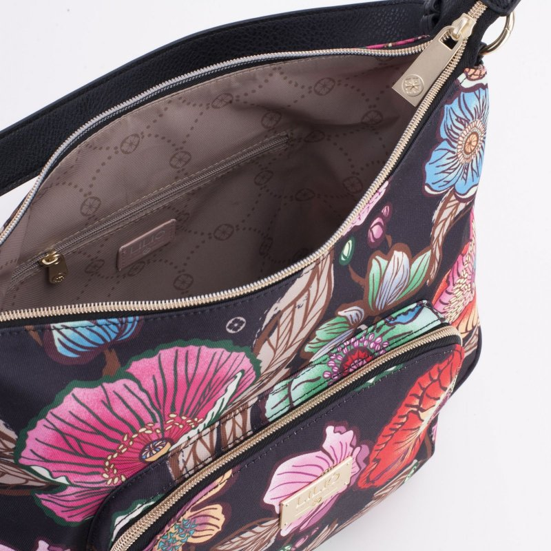 LiLiÓ Urban Peony M Flat Shoulder Bag kabelka 32x21x4 cm Sunburst Black