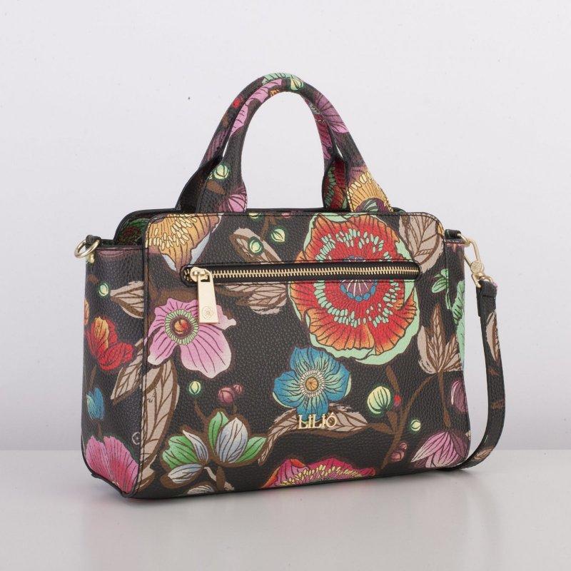 LiLiÓ Urban Peony S Handbag květovaná kabelka 28 cm Sunburst Black