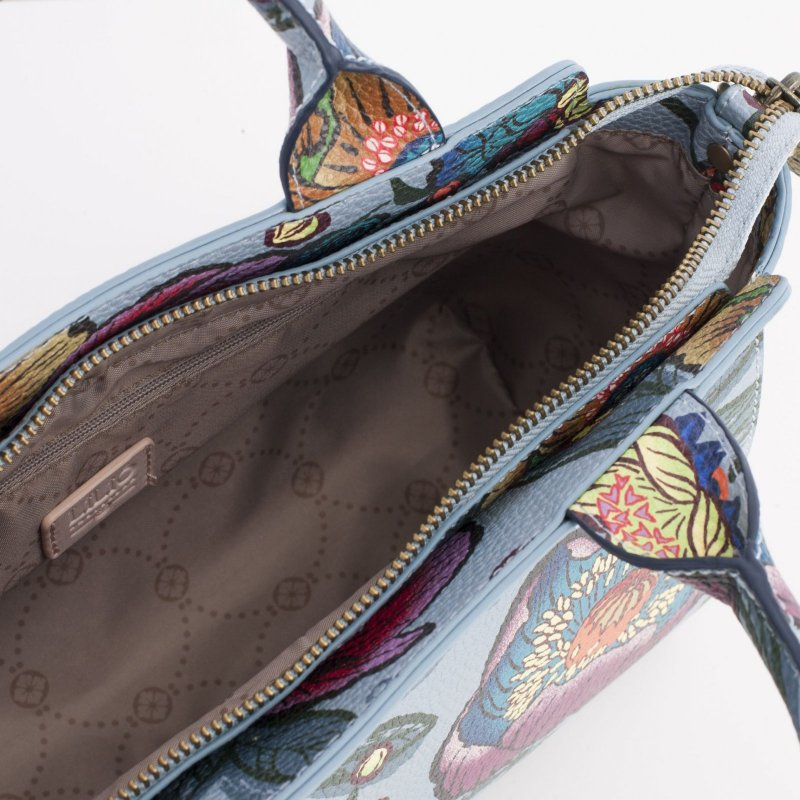 LiLiÓ Urban Peony S Handbag květovaná kabelka 28 cm Electric Blue