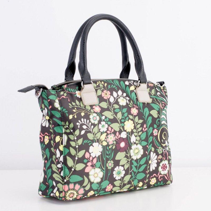 LiLiÓ Morris Garden S Handbag květovaná kabelka 27,5 cm Peacock Green