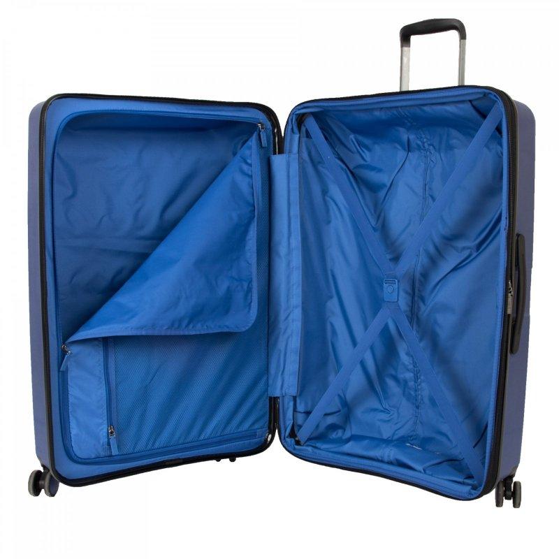 Heys Metallix L elegantní cestovní kufr Duraflex TSA 76cm 132 l Cobalt Blue