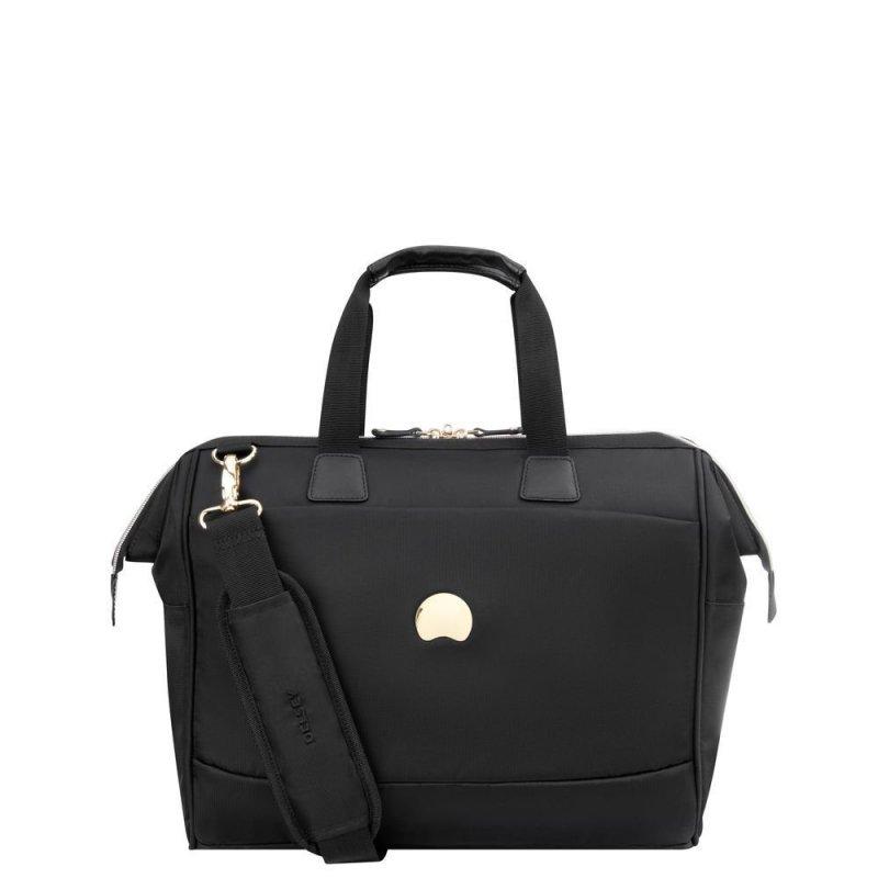 """Delsey Montrouge Satchel stylová palubní taška 14"""" černá"""