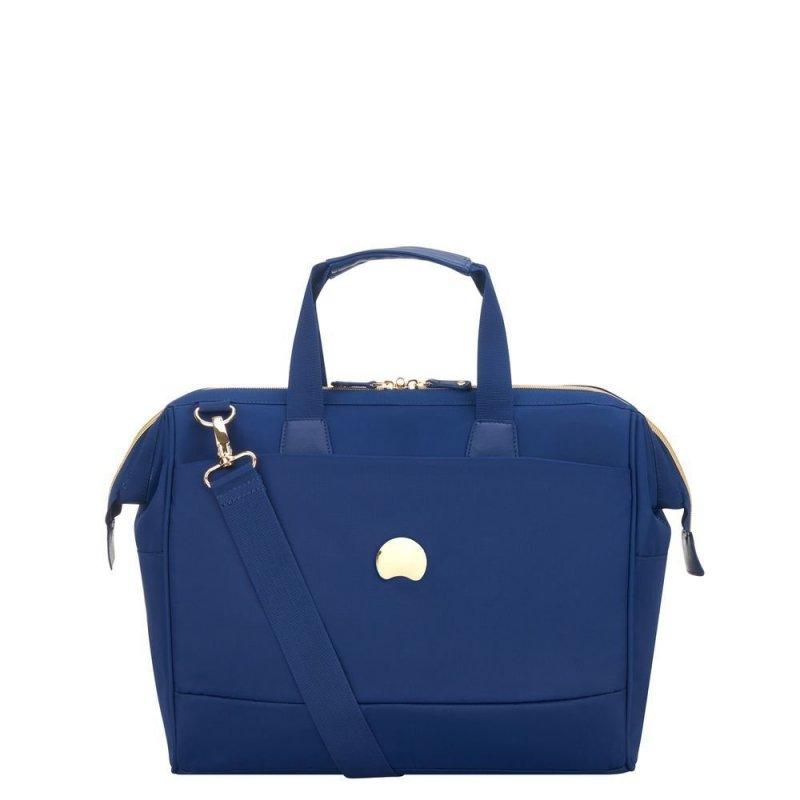 """Delsey Montrouge Satchel stylová palubní taška 14"""" modrá"""
