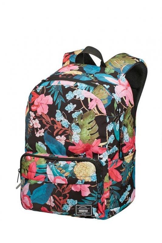 American Tourister UG Lifestyle BP1 volnočasový batoh Black Floral 23 l
