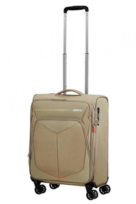 American Tourister Summerfunk 4w palubní kufr TSA 55 cm 43/46 l Beige