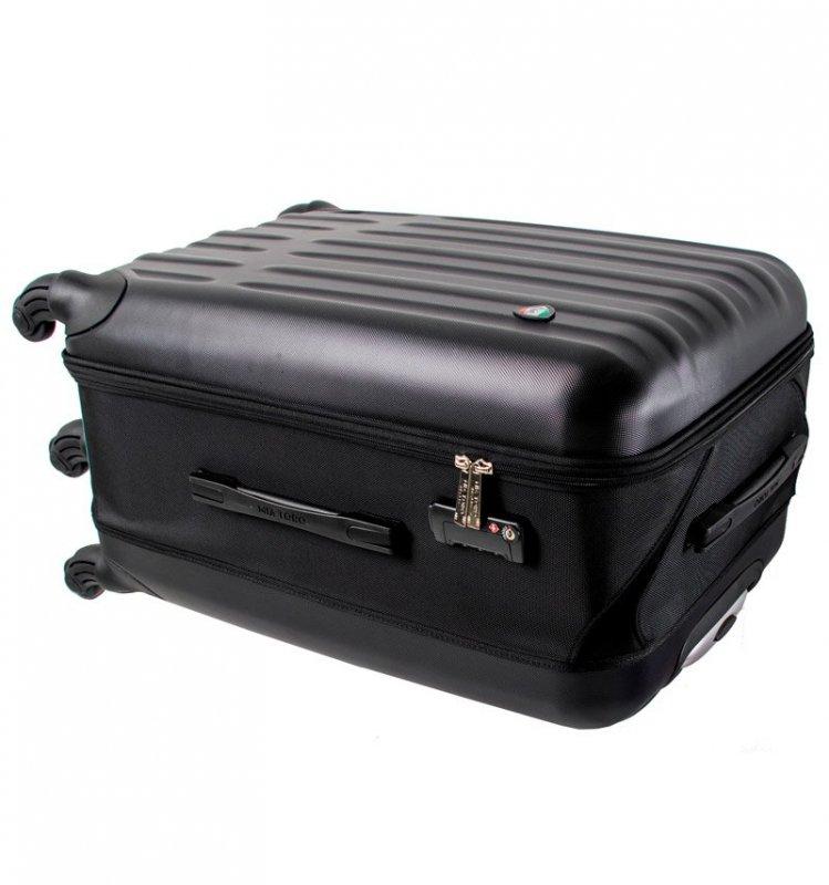 Mia Toro M1301/3-M Piega cestovní kufr TSA 69 cm 76-95 l Silver