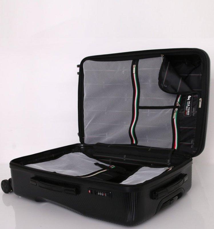 Mia Toro M1713/3-S Torino cestovní kufr TSA 58 cm 38-48 l Silver