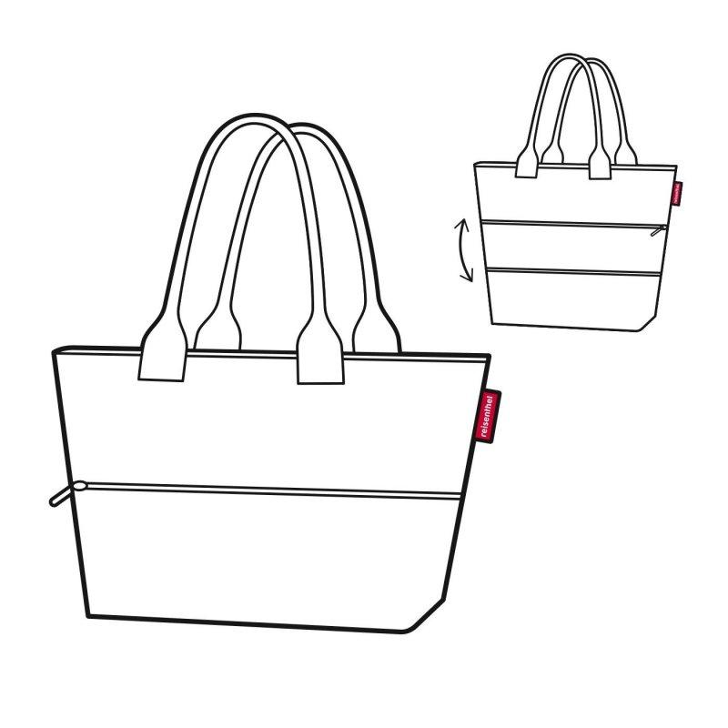 Reisenthel Shopper e1 elegantní rozšiřitelná kabelka 50 cm 12-18 l Mixed Dots