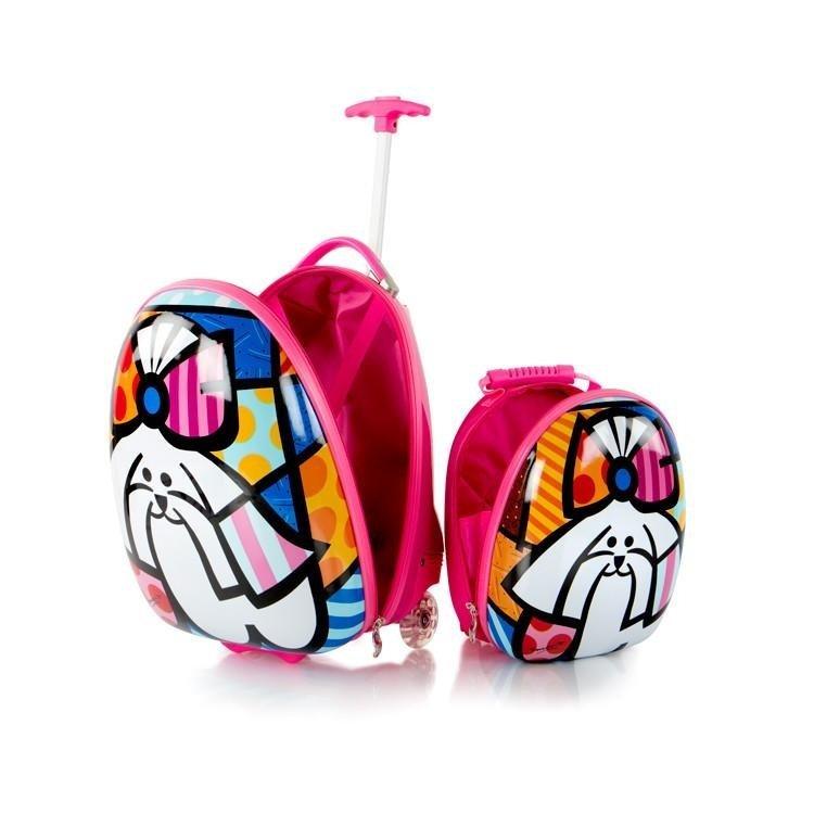 Heys Britto for Kids dětská sada - cestovní kufr 46 cm a batoh 31 cm Dog