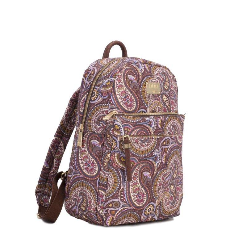 LiLiÓ Paisley Park M Backpack městský dámský batoh 7,1 l Nutmeg Gold