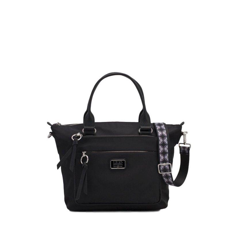 LiLiÓ Solid lilió Handbag elegantní kabelka 28 cm Black