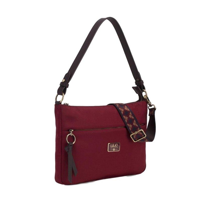 LiLiÓ Solid lilió M Flat Shoulder Bag kabelka na/přes rameno 30 cm Burgundy