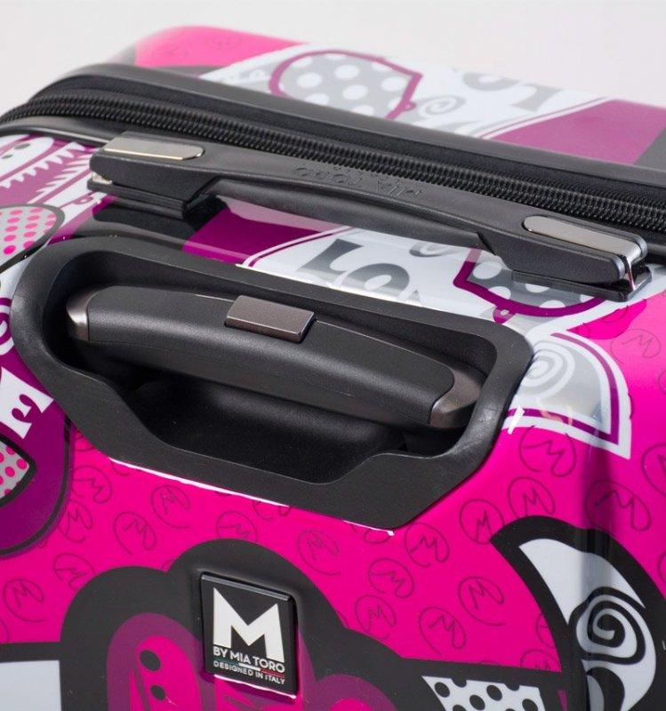 Mia Toro M1314/3-S Hamsa Love palubní kufr TSA 55 cm 39-49 l Monochrome