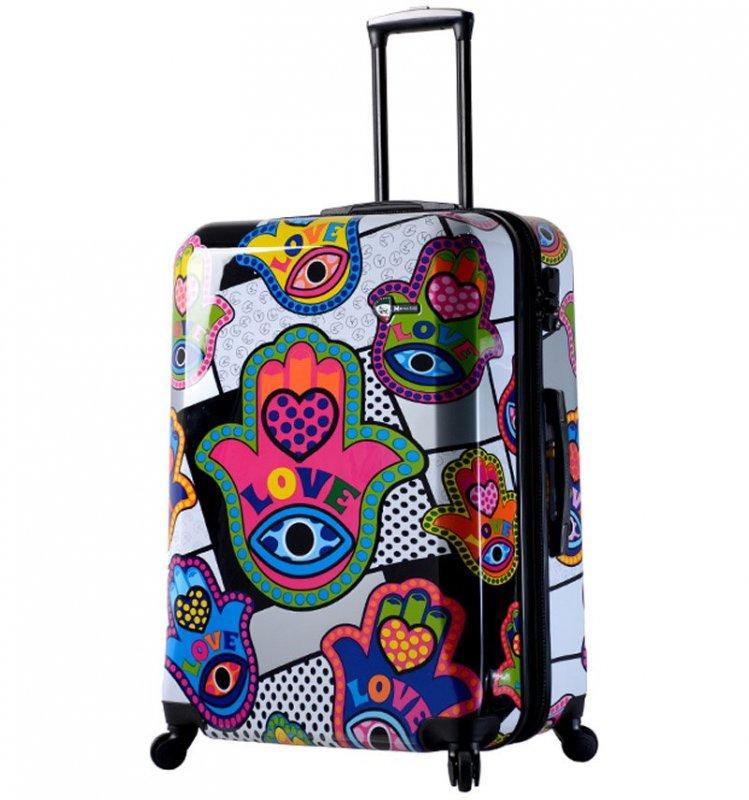 Mia Toro M1312/3-L Hamsa Love cestovní kufr TSA 74 cm 98-123 l
