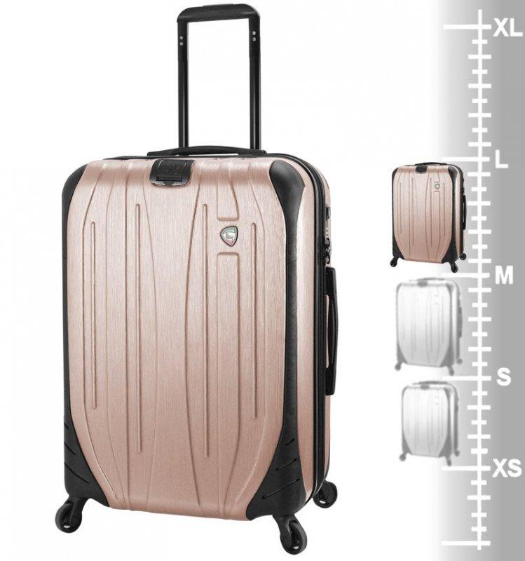 Mia Toro M1525/3-L Ferro cestovní kufr TSA 75 cm 95-119 l Champagne