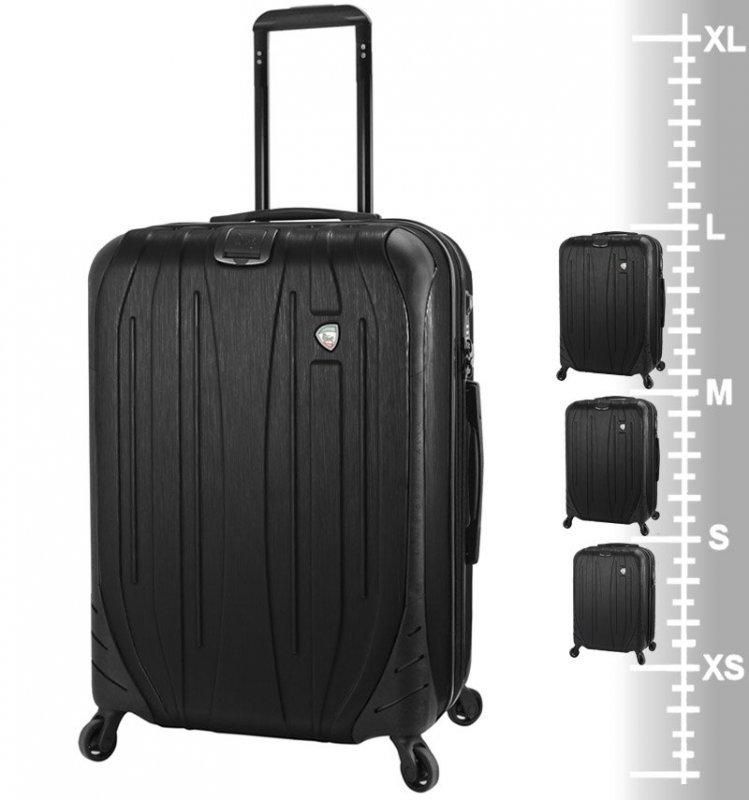 Mia Toro M1525/3 Ferro sada cestovních kufrů TSA 54/65/75 cm Graphite