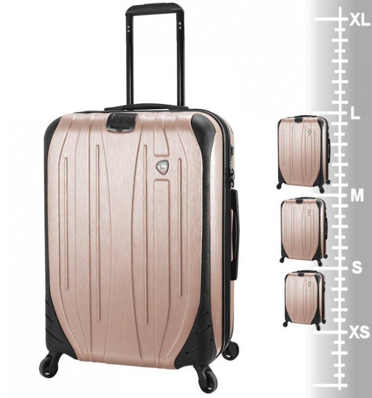 Mia Toro M1525/3 Ferro sada cestovních kufrů TSA 54/65/75 cm Champagne
