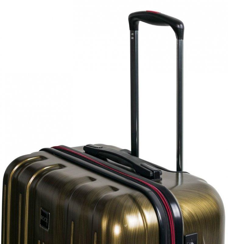 ROCK TR-0201 Graphite S palubný kufor do lietadla TSA 55 cm Gold