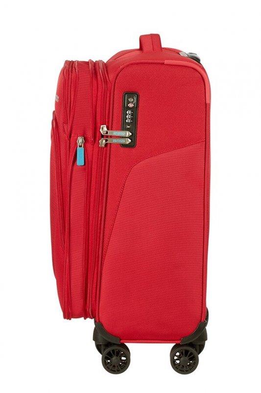 American Tourister Summerfunk 4w palubní kufr TSA 55 cm 43/46 l Red