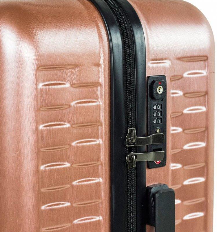 ROCK TR-0192 Allure S palubný kufor do lietadla TSA 56 cm Silver