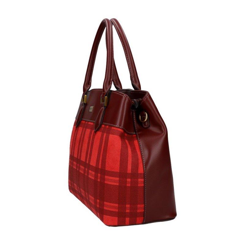 Červená dámská kabelka do ruky David Jones CM5499