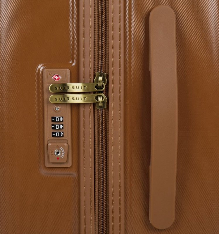 Cestovní kufr SUITSUIT® TR-7106/3-M - Fab Seventies Leather Brown