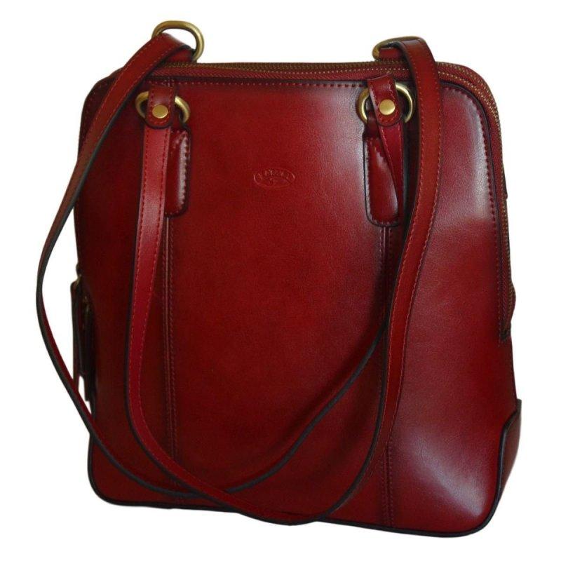 Katana 64206 dámský kožený batůžek 6 l Rouge