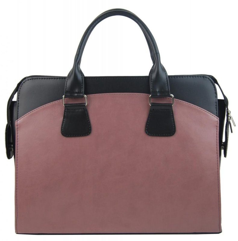 PUNCE LC-01 starorůžová matná dámská kabelka pro notebook do 15.6 palce