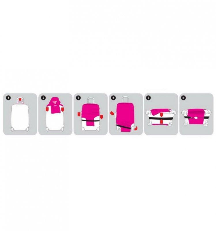 REAbags 9051 univerzální obal na cestovní kufr 60-80 cm Statement