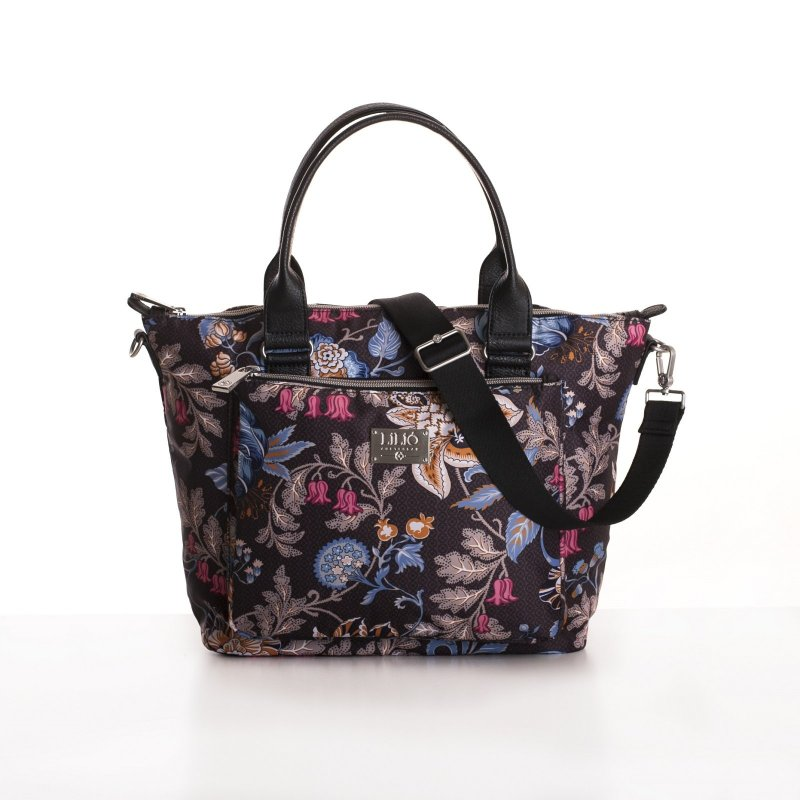 LiLiÓ Folkloric Fun Handbag elegantní květovaná kabelka 28 cm Dune