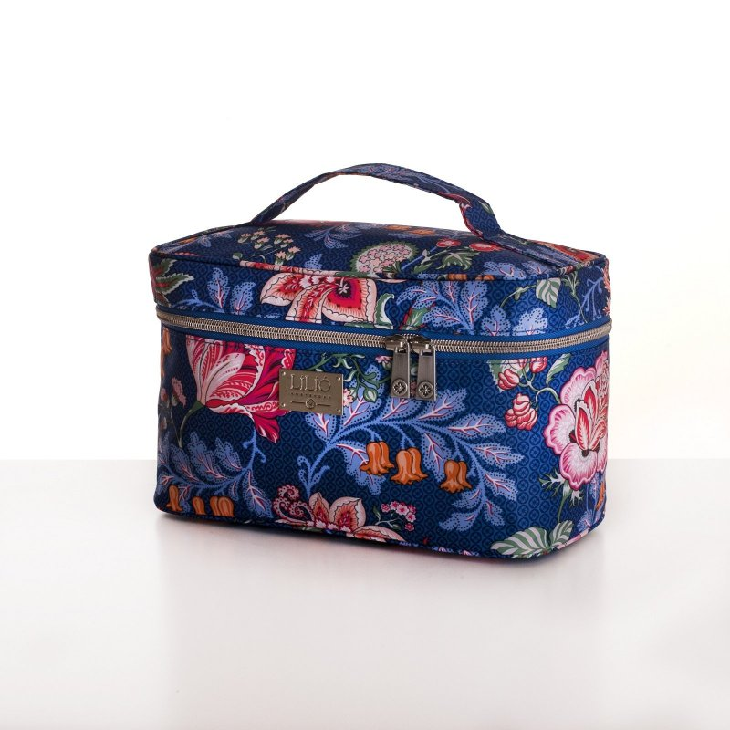 LiLiÓ Folkloric Fun L Beauty Case cestovní necesér 27 cm Slate Blue