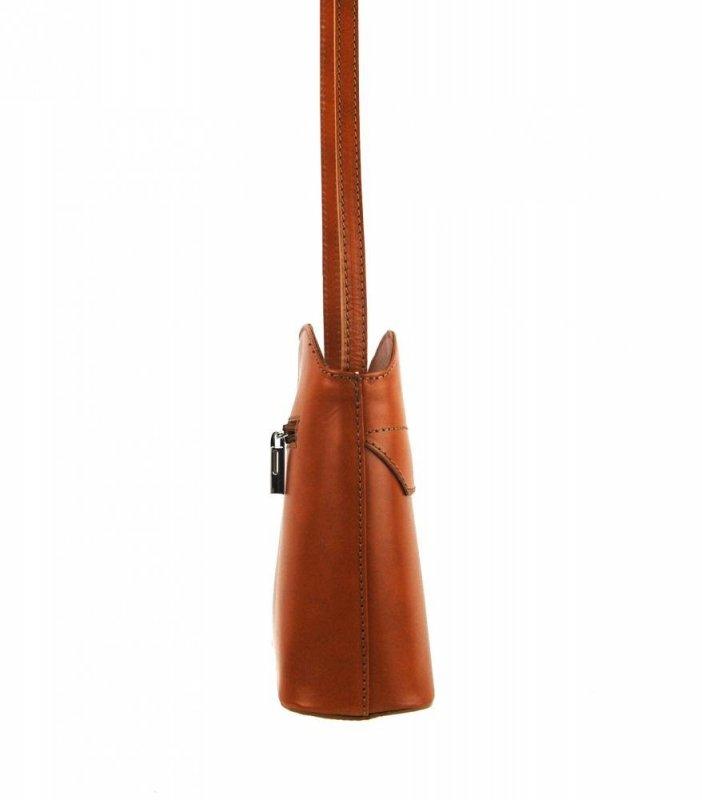 Kožená crossbody dámská kabelka Patrizia Piu camel hnědá