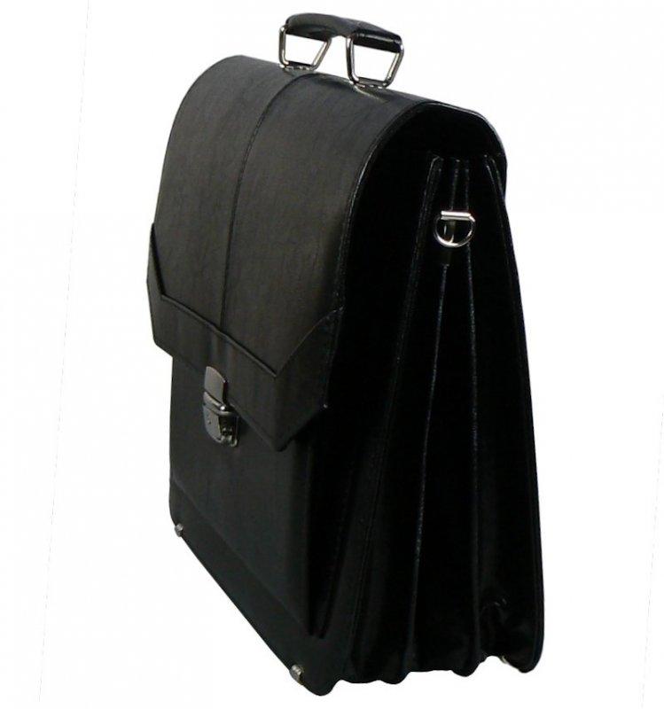 Aktovka REAbags 7253 - černá/nikl