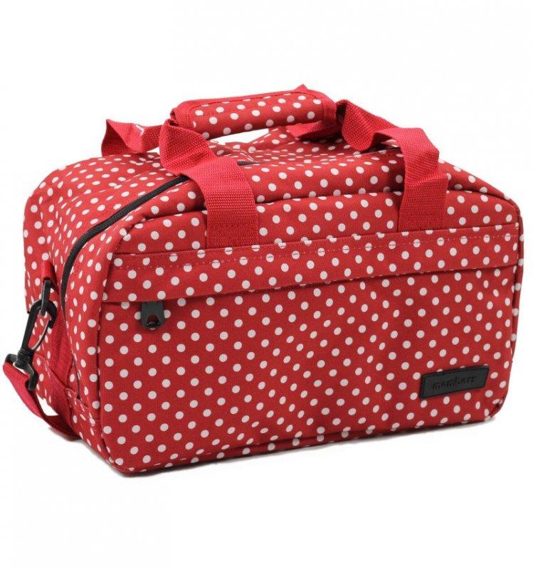 Member's SB-0043 palubní cestovní taška 40x20x25 cm Ryanair červená/bílá