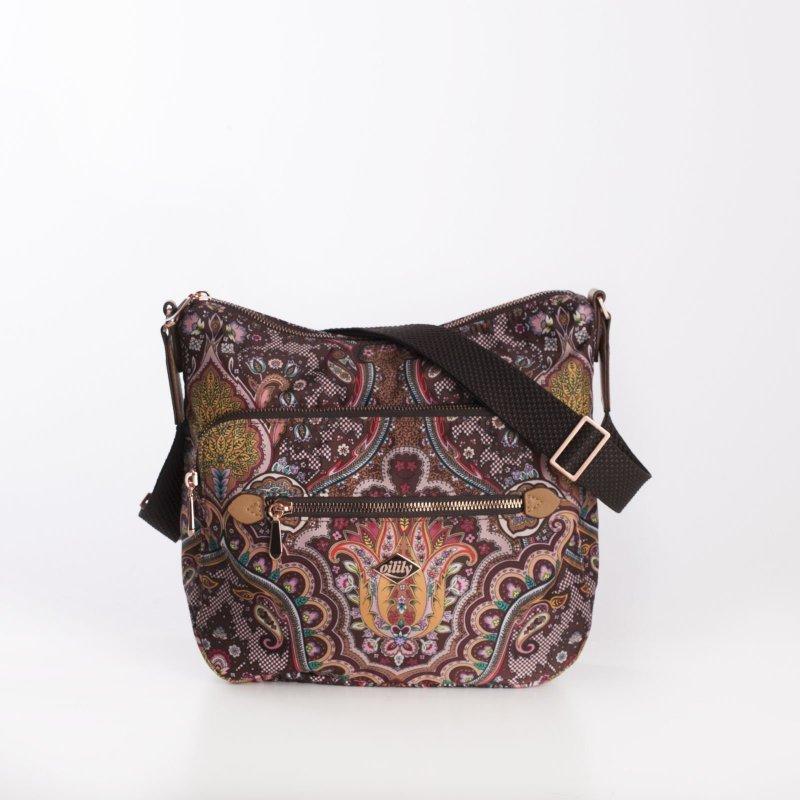 Levně Oilily Shoulder Bag M Paisley dámská kabelka 27 cm Coffee