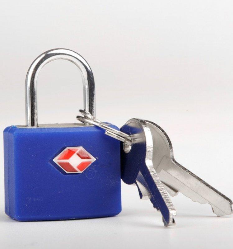 TravelBlue TB027 bezpečnostní TSA zámek na zavazadla, modrý