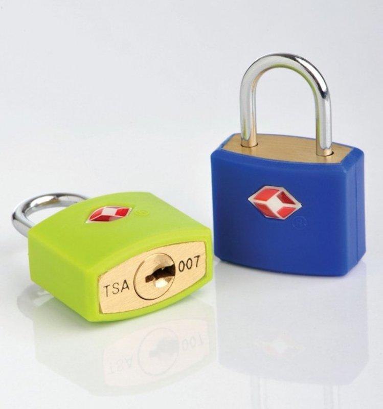 TravelBlue TB027 bezpečnostní TSA zámek na zavazadla, zelený