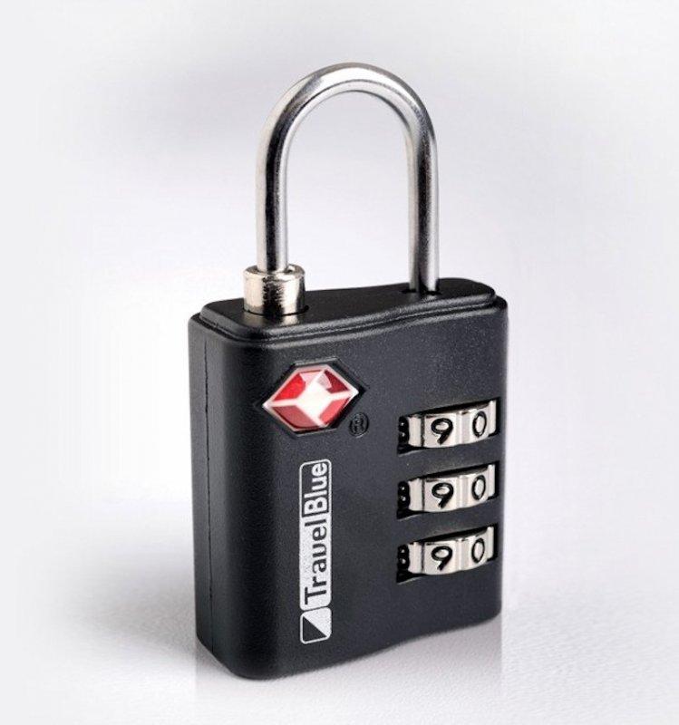 TravelBlue TB036 bezpečnostní TSA kódový zámek na zavazadla, černý